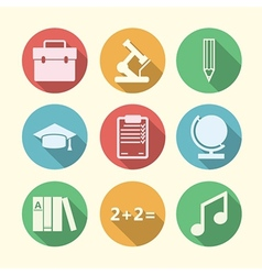 Icons for education vector
