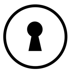 keyhole icon on white background flat style sign vector image