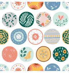 kitchen seamless pattern circles or ceramic vector image