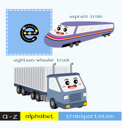 Letter e lowercase tracing transportations vector