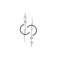 line dot tattoo art new geometric design vector image