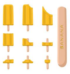 logo for natural banana ice cream vector image