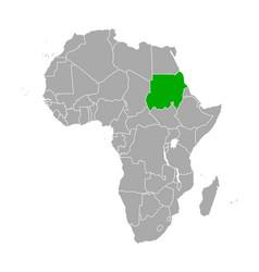 map sudan in africa vector image