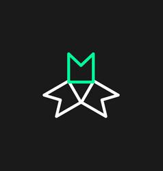 Minimalist logo triangle shape vector