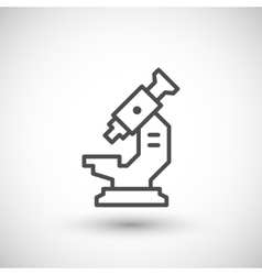 Modern microscope icon vector