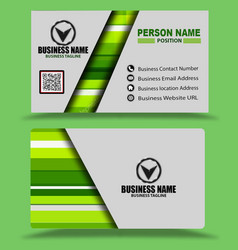 Multi color green business card template psd vector