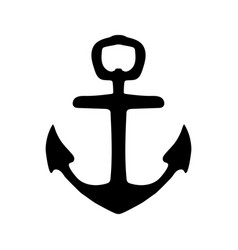 nautical anchor isolated icon ship anchor vector image