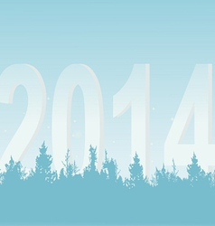 New Years wood on a light background vector image