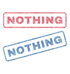 Nothing textile stamps vector