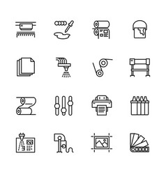 printing house simple icon set contains vector image