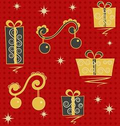 Red christmas seamless vector