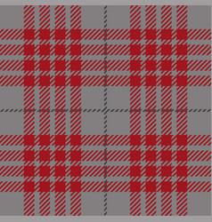 red tartan plaid seamless pattern vector image