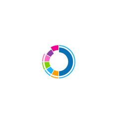 round technology circle logo vector image