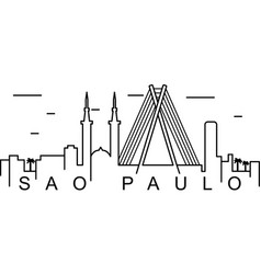 sao paulo outline icon can be used for web logo vector image