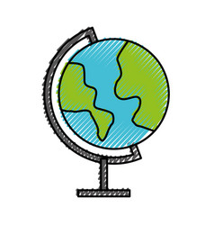 Scribble world map cartoon vector