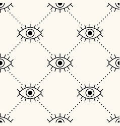 Seamless geometry pattern with open eyes vector