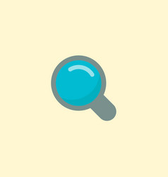 search icon flat element of vector image