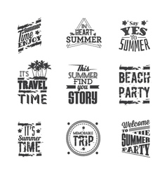 Set of lettering - Summer Holidays vector image
