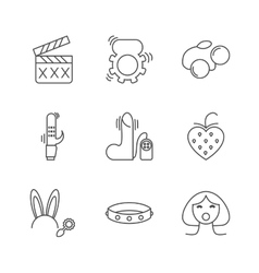 Sex shop icons vector image