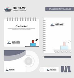 ship logo calendar template cd cover diary and vector image