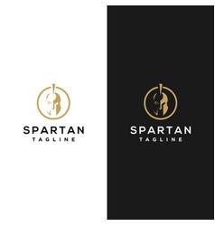 spartan helmet stock design vector image