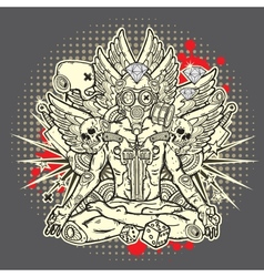 Stylish grunge vector image