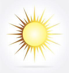 Stylized golden sun element vector
