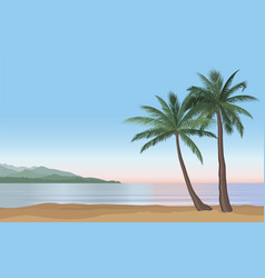 summer holidays background seaside view beach vector image
