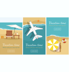 Summer vacation and tourism banner templa vector