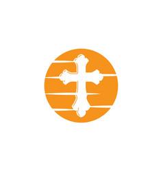 Symbol a church cross christianity religion sy vector