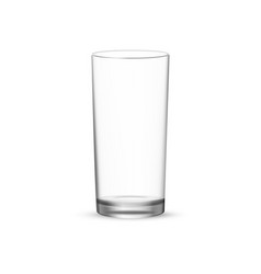 Tall water glass cup vector