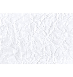 Texture crumpled horizontal white paper vector