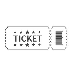 ticket with barcode and star vector image