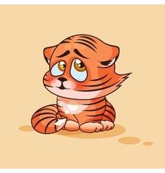 Tiger cub confused vector