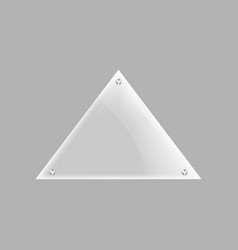 Triangle blank glass plate isolated icon vector