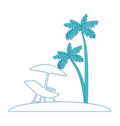 Tropical palm icon vector