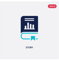 Two color story icon from business concept vector