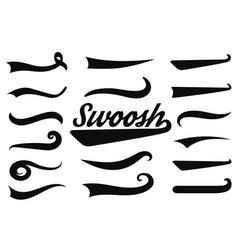 Typographic swash and swooshes tails retro vector