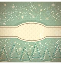 Vintage winter background vector