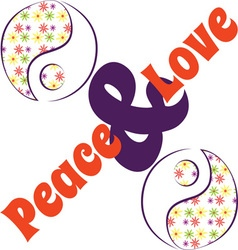 Yin Yang Love Peace vector image