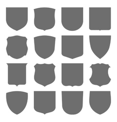 Coats of arms set vector image
