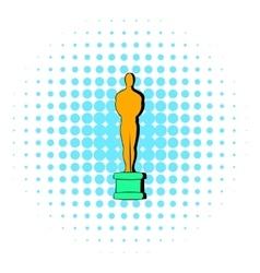 Gold Man statue icon comics style vector image