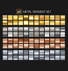 Metal gradient collection vector