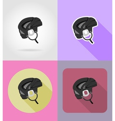 sport flat icons 28 vector image