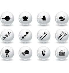 Web buttons grilling icons vector image