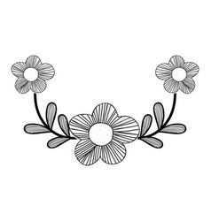 Branch with beauty flowers icon vector