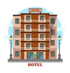 Hotel or motelskyscraper hostel building exterior vector image vector image