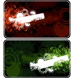 two compositions vector image vector image