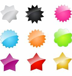 badges and stars vector image vector image