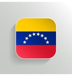 Button - Venezuela Flag Icon vector image